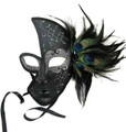 Venetian Mask with Sparkles and Peacock Feathers 1845