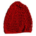 Red Crochet Hair Snood 6620