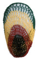 12 PACK Rasta Crochet Hair Snood 6624