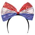 4th of July LED Bowtie Headband 1874