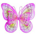 Pink and Green Child Butterfly Wings 4637