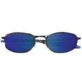 Sports Sunglasses Fishing Metal Silver Half Frame/Blue Lens 1117