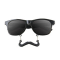Incognito Sunglasses S1 Black Mustache Adult Vintage 80 Style Sunglasses  7095