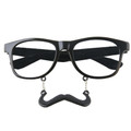 Black Mustache Sunglasses |  Mustaches Glasses |  S1 Black Incognito Clear Lens 7096