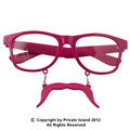 Pink Mustache Sunglasses Incognito Adult Sunglasses Vintage 80 Style Sunglasses With Iconics 7098