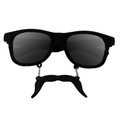 Incognito Sunglasses S2 Black Mustache Vintage 80 Style Sunglasses With Iconics 7099
