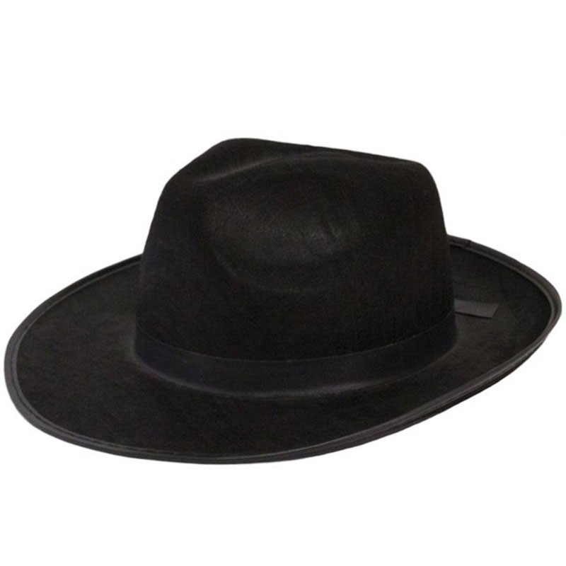 f269e34b Mens Wide Brim Fedora Hats | Black Wide Brim Hat | Flat Brim Fedora