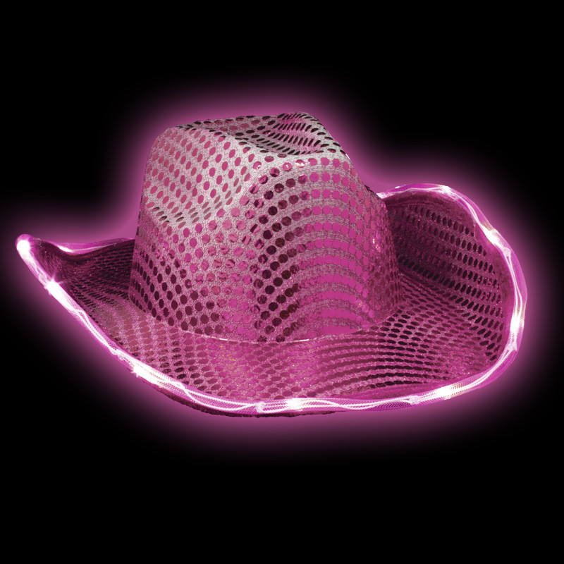 c8a661b15a060 LED Pink Cowgirl Hat