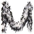 Black and White Feather Boa 2027