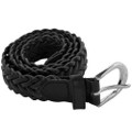 12 PACK  Black Hand Braided Belts Mix Sizes 2300A