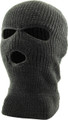 Three Hole Knit Ski Mask 12 PACK  - Charcoal 3061