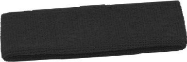 Black Terry Cool Headbands 3101