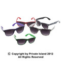 12 PACK Money Print Vintage 80 Style Sunglasses With Iconics Mix Colors 7052