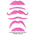 Pink Party Bulk Fake Mustaches  9039