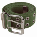 Grommet Belts Olive Canvas Two Hole Mix Sizes 12 PACK 2284A