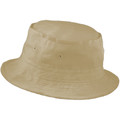 "Fisherman Bucket Hat Beige 22.5"" Standard Adult 5822"