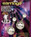 70's Disco Ball Costume Earrings 6695