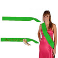 "Custom Pageant Wedding Kelly Green Satin Sashes 60"" 6856 (Fonts in Picture Gallery)"
