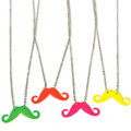 Party Favor Set Mustache Necklaces Mixed Colors 12 PACK 6646