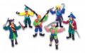 Set 12 Small Plastic Toy Pirates 9130