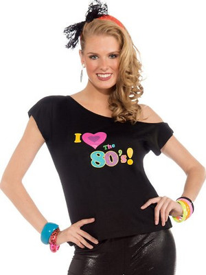 80 hair styles womens i the 80 s shirt costume 4532s 4532l 4532 | I love 80s shirt 12216.1365782994.400.400