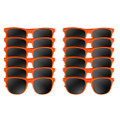 12 PACK Orange Sunglasses Polycarbonate