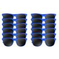 A dozen blue wayfarers