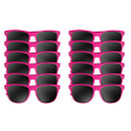 Hot Pink Sunglasses Adult 12 PACK 1054D