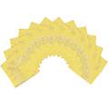 """Yellow Bandana 22"""" Paisley Cotton 12 PACK 1023D"""