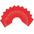 Bulk Red Bandannas | Wholesale Red Bandannas | 12 PACK 1919D