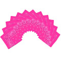 "Hot Pink Bandana 22"" Square Standard 100% Cotton 12 PACK 1917D"