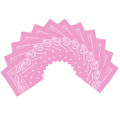 "Light Pink Bandana 22"" Paisley Cotton 12 PACK 1914D"