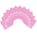 "Light Pink Bandana 22"" Paisley Cotton 12 PACK 1914D"