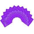 "Purple Bandana 22"" Paisley Cotton 12 PACK 1918D"