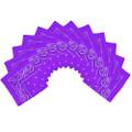 "Purple Bandana 22"" Paisley Cotton 12 PACK 1918D"