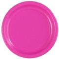 "Party Paper Plates Hot Pink  7"" 25 Pack 3861"