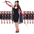 "Black Cape Costume 45"" 12PK 4524D"