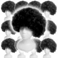 Black Costume Afro Wig 12 PACK 6018D