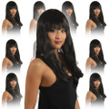 Black Diva Wig with Bangs 12 PACK  6026D