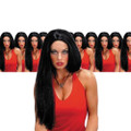 Black Wig 24 Inch Wicked Witch Straight Wig 12PK  6047D