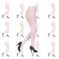 Fishnet Pantyhose White 12 PACK 8041D