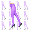 Purple Fishnet Pantyhose 12 PK 8045D