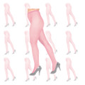 Light Pink Fishnet Pantyhose  12 PACK 8047D