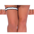 Stripper Garter Black and White Striped Satin 12PK 8192D