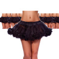 Black Petticoat Double Layer Tulle 8218a