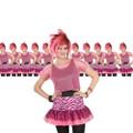 80's Hot Pink Fishnet Shirt 12PK  8580D