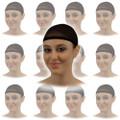 Black Wig Cap 12PK  216D