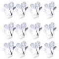 """White Short Dress Gloves Satin Adult 9"""" 12 PACK 1202D"""