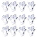 "White Short Dress Gloves Satin Adult 9"" 12 PACK 1202D"