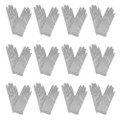 "Dress Gloves Short Silver Satin 12 PACK 9""  1209D"